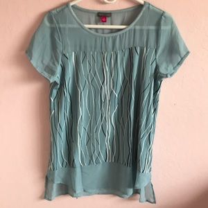 Blue Vince Camuto top